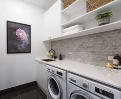 The Block 2016 - Week 7 Hall, Powder Room & Laundry Reveals Laundry Room Design, Laundry In Bathroom, Laundry Rooms, Laundry Decor, Laundry Closet, Bathroom Storage, Home Staging, The Block 2016, The Block Australia