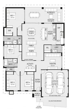 Plan dream house plans, small house plans, house floor plans, small house d House Layout Plans, Dream House Plans, House Layouts, House Floor Plans, Floor Plan Layout, 2 Storey House Design, Home Design Floor Plans, Modern Floor Plans, 4 Bedroom House Plans