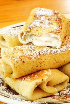 Since John will probably be gone for valentine's make these for my other 3 Valentines.A sweet cheese blintz recipe that is easy to make and is a delicious breakfast. Sweet Cheese Blintzes Recipe from Grandmothers Kitchen. Passover Recipes, Jewish Recipes, Mexican Food Recipes, Passover Food, Crepes, Kosher Recipes, Cooking Recipes, Kosher Food, Cheese Blintzes