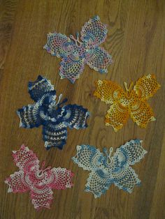 Crocheted butterfly doilies 2012