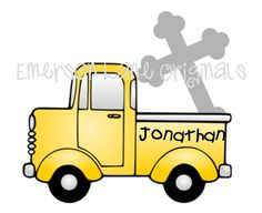 Truck and Cross  FILE ONLY by EmersonLaneOriginals on Etsy, $3.00