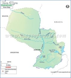 awesome PARAGUAY RIVER ON WORLD MAP