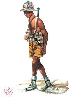 """Paratrooper, Folgore Division, El Alamein, (Deir El Munassib), 1942"""