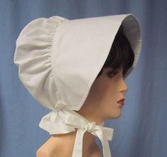 Items similar to Sun Bonnet - Pioneer Costume - White Cotton Muslin - Colonial - Frontier SASS - Ladies Size on Etsy Pioneer Costume, Pioneer Dress, Pioneer Bonnet, Bonnet Cap, Bonnet Pattern, French Seam, Historical Costume, Clothing Items, Vintage Clothing
