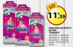 Fraldas Dodot 11,36€ - Eleclerc - de 7 a 10 de Junho