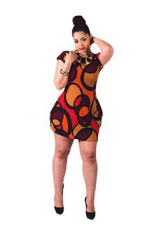 Retro Print Dress. Plus size retro chic print dress. by Deemai, $80.00
