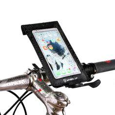 WHEEL UP Bike Waterproof Handlebar Touchscreen Phone Bag Universal 360 Rotataing Quick Release