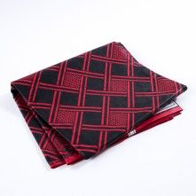 Black+and+Red+Geometric+Waxed+Cotton+African+Print+with+additional+Inlaid+Print