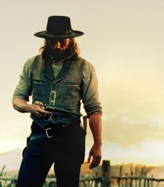 Hell on wheels- love me a cowboy! AMC please don't cancel this show..