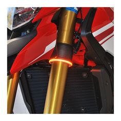 NRC's clearly visible and completely awesome looking 360 Turn Signals mount directly to fork tubes of various sizes.