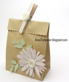 i love 2 cut paper: Decorated Paper Bag