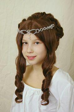 ADULT SIZE Cinderella - princess wig - Aschenbrödel Perücke - also suitable for wedding, victorian, renaissance, medieval or party costume
