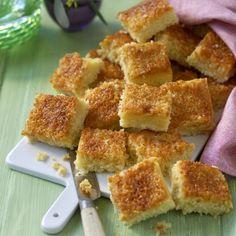 Polenta, Fika, Muffin Recipes, I Love Food, No Bake Cake, Apple Pie, Cornbread, Bacon, French Toast