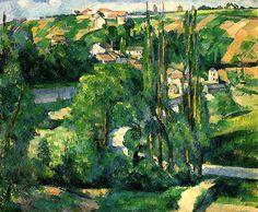 La Cote du Galet, at Pontoise Paul Cezanne - circa 1879-1880