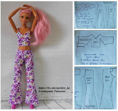 Doll Clothes Our Generation Sewing Barbie Clothes, Barbie Sewing Patterns, Doll Dress Patterns, Clothing Patterns, Diy Clothes, Doily Patterns, Coat Patterns, Dress Sewing, Blouse Patterns