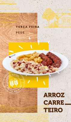 Branding // Divino Arroz on Behance Web Design, Food Graphic Design, Food Poster Design, Food Menu Design, Graphic Design Posters, Social Media Branding, Social Media Design, Comida Delivery, Food Truck