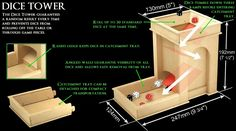 dice tower plans | CNC Miniature Scenery - Dice Tower from $29.75 FREE shipping
