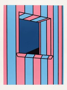 Window at Night by Patrick Caulfield SOLD Paper size: x Image size: x Signed screen print from a series of four in an edition of 72 with 15 proofs. Printed at Kelpra Studios, published by Leslie Waddington Prints. Graphic Design Illustration, Illustration Art, Illustrations, Pop Art, Ligne Claire, Art Walk, A Level Art, Art Design, Book Design