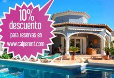 Reserva a través de nuestra web www.calperent.com y consigue un 10% de descuento en tu alojamiento. Consulta condiciones de la oferta en la web.