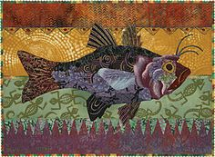 The Fish Lady For a while, early on in my career, I could have beenknown as the fish lady. Quilts of fish were some of the first pieces I made for a general market. Before, I haddone either commi…