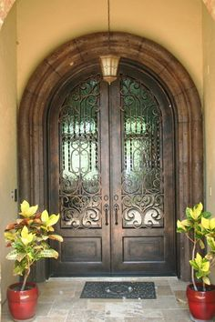 Custom Front Entry from Durango Doors inside this Masters Touch Custom Home
