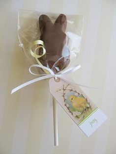 Chocolate Dipped Bunny Peep on a Stick
