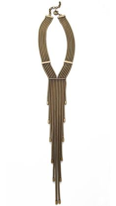 AUDEN Lennox Fringe Necklace - I do believe a small splurge is in order....