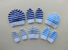 408a3bb314a Ravelry  Simple Stripes Hat   Mittens - Premature Baby pattern by marianna  mel Preemie Babies