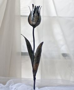 Metal Tulip steel flower metal artwork yard by TheSteelStyleThings