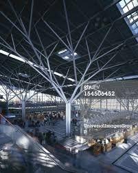 Modern Columns futuristic interior, future, multiple natures – fibrous tower