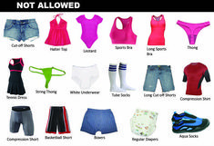 Do you know why these kinds of clothing are not allowed to wear in a swimming pool? Find out why on our blog today of why street clothing and swimming pools do not mix.  https://platinumpools.com/proper-swimming-pool-clothing/