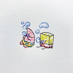 "Anyone remember this adorable little Classic PPG ""villain""? Mini Tattoos, Cute Tattoos, Small Tattoos, Mini Drawings, Doodle Drawings, Sketchbook Drawings, Spongebob Tattoo, Cartoon Wallpaper, Aesthetic Art"