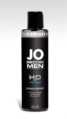 SYSTEM JO FOR MEN WATER BASED H2O PEROSNAL LUBRICANT - 4OZ.  #SystemJO