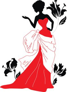 Illustration of Woman silhouette on a red carpet with lights vector art, clipart and stock vectors. Woman Silhouette, Silhouette Art, Dress Silhouette, Afrique Art, African Paintings, Photo Images, Stencil Painting, Indian Art, Fashion Sketches