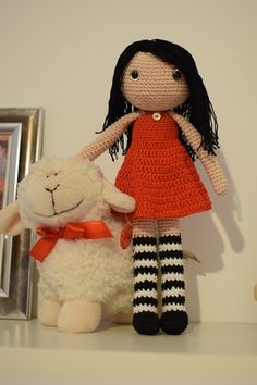 Crocheted Gorjuss doll