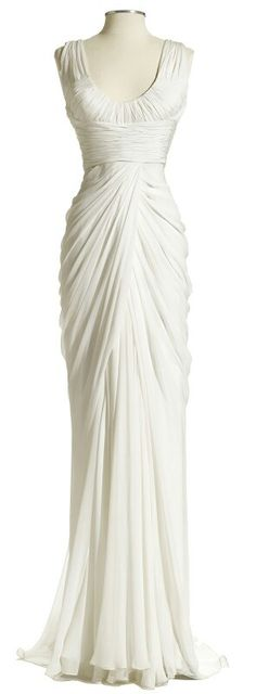 Draped waterfall dress