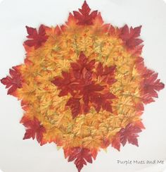 Layered Leaves Fall Placemat