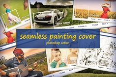 Seamless Painting Cover by Danive Studio on @creativework247