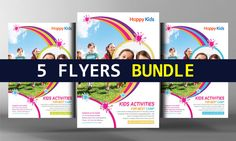 5 School Education Flyers Bundle by Business Templates on @creativemarket