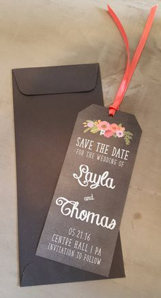 Book It! These chalk-ed up bookmarks are a great way to announce your engagement and have people save-your-date. They can add it to their