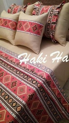 Embroidery Neck Designs, Hand Embroidery Videos, Draps Design, Bad Cover, Designer Bed Sheets, Designs For Dresses, Cushions, Pillows, Bed Sheet Sets