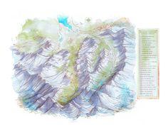 Hyalite Canyon map - Jeremy Collins #map #hyalitecanyon