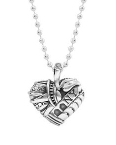 LAGOS Sterling Silver Heart of New York Necklace, 34"