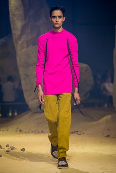 A look from the Kenzo Spring 2016 Menswear collection.