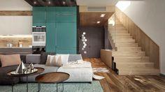 Una casa en Moscú con variedad de estilos.