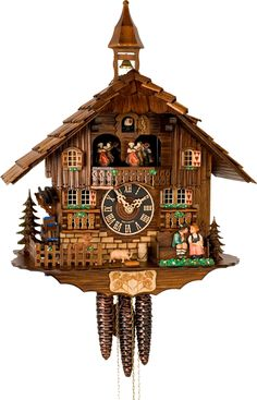 my Aunt Marie had a cockoo clock like this, although not as elaborate