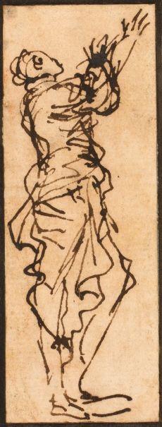 Estudio de una figura masculina en pie - Colección - Museo Nacional del Prado