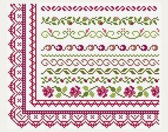 Cross Stitch patterns border Counted cross by PatternsTemplates