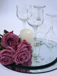 create a diy candle wedding centerpiece ( I think you'll like this Steph : )