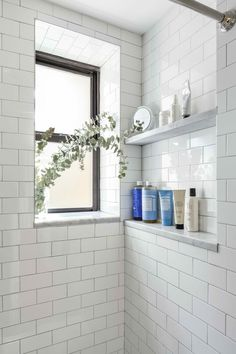 Ground Floor Co-op in Sunnyside Finds Its Light White subway tiles for clean lines and a classic look.White subway tiles for clean lines and a classic look. Bathroom Tile Designs, Bathroom Renos, Bathroom Renovations, Bathroom Interior, Bathroom Ideas, Bathroom Organization, Condo Bathroom, Restroom Ideas, Bathroom Inspiration